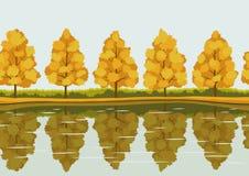 Σχέδιο τοπίων φθινοπώρου Στοκ Εικόνες