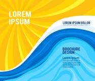 Σχέδιο του ήλιου με το νερό Στοκ εικόνες με δικαίωμα ελεύθερης χρήσης