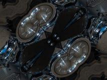 Σχέδιο του αφηρημένου γκρίζου σχεδίου καλειδοσκόπιων Στοκ εικόνες με δικαίωμα ελεύθερης χρήσης