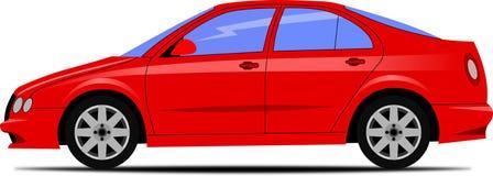 Σχέδιο του κόκκινου αυτοκινήτου Στοκ Φωτογραφία