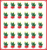 Σχέδιο του πράσινου διακοσμητικού κάκτου διανυσματική απεικόνιση
