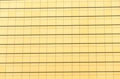 Σχέδιο του χρυσού κτηρίου Στοκ εικόνα με δικαίωμα ελεύθερης χρήσης