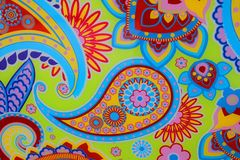 Σχέδιο του Paisley Ayurvedic - ινδικό αγγούρι Στοκ Εικόνα