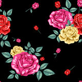 Σχέδιο τριαντάφυλλων λουλουδιών Στοκ εικόνα με δικαίωμα ελεύθερης χρήσης