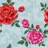 Σχέδιο τριαντάφυλλων λουλουδιών Στοκ φωτογραφία με δικαίωμα ελεύθερης χρήσης