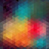 Σχέδιο τριγώνων των γεωμετρικών μορφών Ζωηρόχρωμο σκηνικό μωσαϊκών απεικόνιση αποθεμάτων