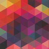 Σχέδιο τριγώνων των γεωμετρικών μορφών Ζωηρόχρωμο σκηνικό μωσαϊκών ελεύθερη απεικόνιση δικαιώματος