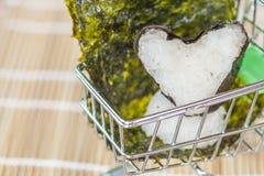 Σχέδιο τροφίμων σφαιρών ρυζιού στο κάρρο Στοκ φωτογραφία με δικαίωμα ελεύθερης χρήσης