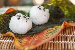 Σχέδιο τροφίμων σφαιρών ρυζιού Στοκ εικόνα με δικαίωμα ελεύθερης χρήσης