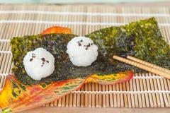 Σχέδιο τροφίμων σφαιρών ρυζιού Στοκ Εικόνες