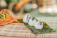 Σχέδιο τροφίμων σφαιρών ρυζιού Στοκ φωτογραφία με δικαίωμα ελεύθερης χρήσης