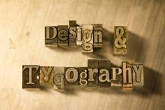 Σχέδιο & τυπογραφία - letterpress μετάλλων γράφοντας σημάδι Στοκ φωτογραφίες με δικαίωμα ελεύθερης χρήσης