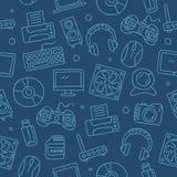 Σχέδιο των εικονιδίων του εξοπλισμού υπολογιστών Στοκ εικόνα με δικαίωμα ελεύθερης χρήσης
