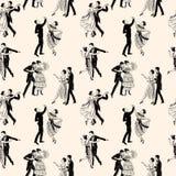 Σχέδιο των εκλεκτής ποιότητας χορεύοντας ζευγών Στοκ Φωτογραφίες