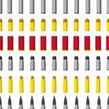 Σχέδιο των διαφορετικών σφαιρών caliber Πυρομαχικά, πυροβόλα όπλα, τουφέκι ελεύθερων σκοπευτών ελεύθερη απεικόνιση δικαιώματος