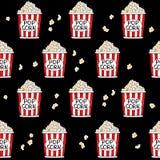 Σχέδιο των κάδων popcorn Στοκ φωτογραφίες με δικαίωμα ελεύθερης χρήσης