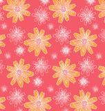 Σχέδιο των κίτρινων και άσπρων λουλουδιών διανυσματική απεικόνιση