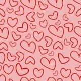 Σχέδιο των καρδιών για την ημέρα α του βαλεντίνου Στοκ Εικόνα