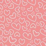 Σχέδιο των καρδιών για την ημέρα α του βαλεντίνου Στοκ φωτογραφία με δικαίωμα ελεύθερης χρήσης