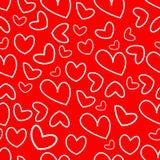 Σχέδιο των καρδιών για την ημέρα γ του βαλεντίνου Στοκ φωτογραφία με δικαίωμα ελεύθερης χρήσης