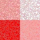 Σχέδιο των καρδιών για την ημέρα του βαλεντίνου (θέστε) Στοκ Φωτογραφίες