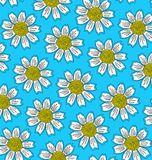 Σχέδιο των μεγάλων άσπρων λουλουδιών διανυσματική απεικόνιση