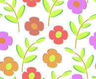 Σχέδιο των λουλουδιών και των κλαδίσκων ελεύθερη απεικόνιση δικαιώματος