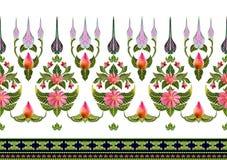 Σχέδιο των λουλουδιών και των φύλλων που απομονώνονται Στοκ φωτογραφία με δικαίωμα ελεύθερης χρήσης