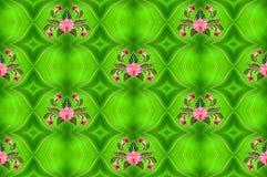 Σχέδιο των λουλουδιών και των φύλλων φοινικών Στοκ εικόνα με δικαίωμα ελεύθερης χρήσης
