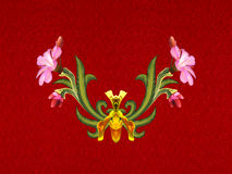 Σχέδιο των λουλουδιών και των φύλλων Στοκ φωτογραφίες με δικαίωμα ελεύθερης χρήσης