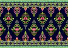 Σχέδιο των λουλουδιών και των φύλλων Στοκ Εικόνα
