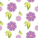 Σχέδιο των λουλουδιών σε ένα άσπρο υπόβαθρο Στοκ Φωτογραφίες