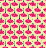 σχέδιο των ρόδινων λουλουδιών απεικόνιση αποθεμάτων