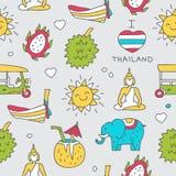 Σχέδιο των ταϊλανδικών χρωματισμένων εικονιδίων Στοκ Εικόνα