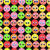 Σχέδιο των χαμόγελων στο μαύρο υπόβαθρο Στοκ Εικόνα