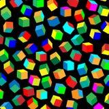Σχέδιο των χρωματισμένων κύβων Στοκ Εικόνες