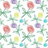 Σχέδιο των χρωματισμένων τριαντάφυλλων Στοκ φωτογραφία με δικαίωμα ελεύθερης χρήσης