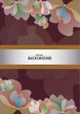 Σχέδιο υποβάθρου λουλουδιών για την κάλυψη Στοκ εικόνα με δικαίωμα ελεύθερης χρήσης