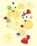 Σχέδιο φετών μπανανών Στοκ Φωτογραφία