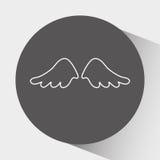 σχέδιο φτερών αγγέλων ελεύθερη απεικόνιση δικαιώματος