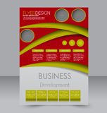 Σχέδιο φυλλάδιων Πρότυπο ιπτάμενων Αφίσα Editable A4 Στοκ εικόνα με δικαίωμα ελεύθερης χρήσης