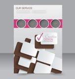 Σχέδιο φυλλάδιων Πρότυπο ιπτάμενων Αφίσα Editable A4 Στοκ φωτογραφίες με δικαίωμα ελεύθερης χρήσης