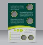 Σχέδιο φυλλάδιων Πρότυπο ιπτάμενων Αφίσα Editable A4 Στοκ Εικόνες