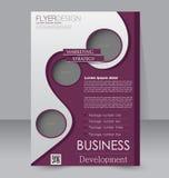 Σχέδιο φυλλάδιων Πρότυπο ιπτάμενων Αφίσα Editable A4 Στοκ φωτογραφία με δικαίωμα ελεύθερης χρήσης