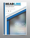 Σχέδιο φυλλάδιων Πρότυπο ιπτάμενων για την επιχείρηση, εκπαίδευση, παρουσίαση, ιστοχώρος, κάλυψη περιοδικών Στοκ Εικόνα