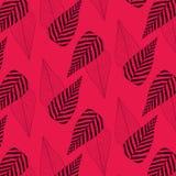 Σχέδιο φύλλων στο κόκκινο υπόβαθρο πρότυπο άνευ ραφής Σύσταση τυπωμένων υλών Σχέδιο υφάσματος διανυσματική απεικόνιση