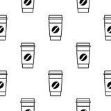 Σχέδιο φλιτζανιών του καφέ Στοκ Φωτογραφίες