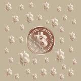Σχέδιο χαλκού Bitcoin Στοκ Φωτογραφία