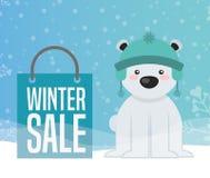 Σχέδιο χειμερινής πώλησης διανυσματική απεικόνιση