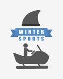Σχέδιο χειμερινού αθλητισμού διανυσματική απεικόνιση